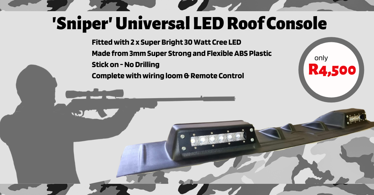 'Sniper' Universal LED Roof Console (2 X 30 Watt LED Cree Bar, Wiring Harness With Remote Included)
