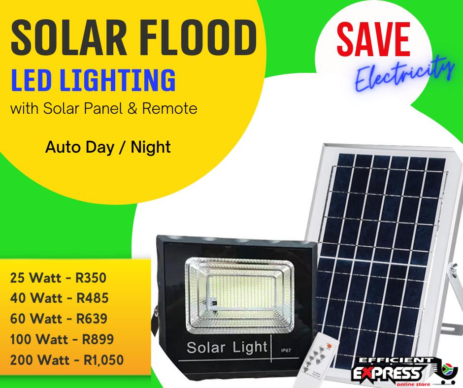 Jortan Solar Flood LED Lights (25 Watt / 40 Watt / 60 Watt / 100 Watt / 200 Watt)