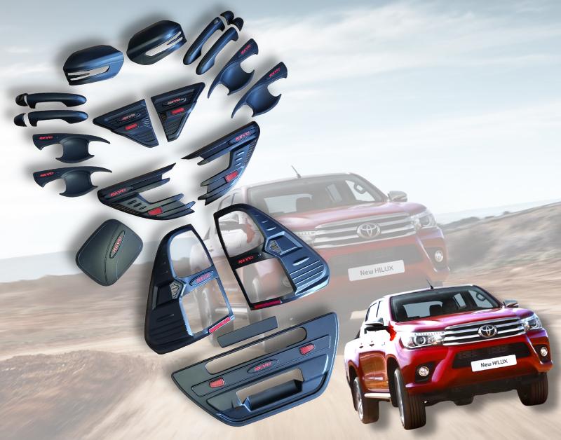 Toyota Hilux Revo 2016-2020 Body Kit – Matt Black Satin Finish