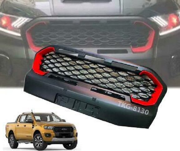 Ford Ranger 2019+ Grill With Led White And Red Inserts