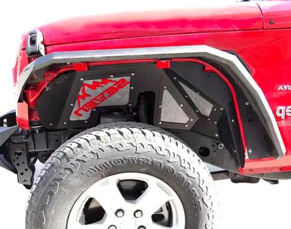Jeep Wrangler JL Aluminum Front Inner Fender Kit