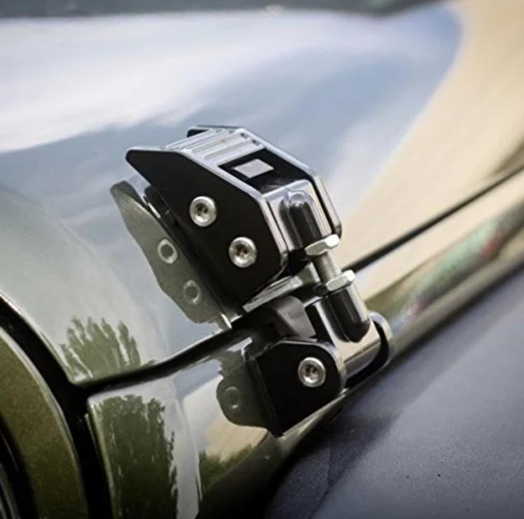 Jeep Wrangler JK/JL Aluminium Hood Latches – Black