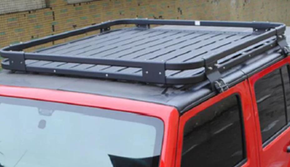 Jeep Wrangler Rooftop Aluminium Luggage Rack 4 Door
