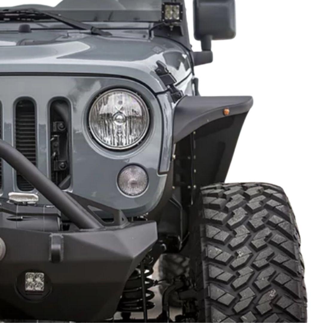 Jeep Wrangler Ultra Series Aluminium Skinny Fender Flare W/ Lights 4ps
